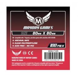 80x80mm - Protèges cartes  X100 - Medium Square