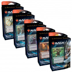 Lot des 5 Decks Planeswalker Magic 2021 différents