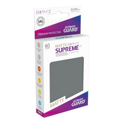 Ultimate Guard 60 pochettes Supreme UX Sleeves format japonais Gris Foncé Matte