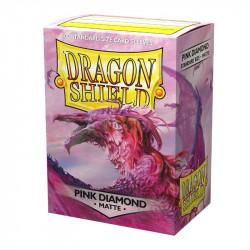 Protèges cartes - Deck Box x100 - Pink Diamond Matte
