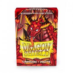 Dragon Shield 60 pochettes - Sleeves format japonais - Crimson Matte