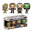 04 Pack : Groot Jeune, Star-lord, Gamora et Ego