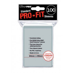 Protèges cartes X100 - Pro-Fit Transparent - Standard Size