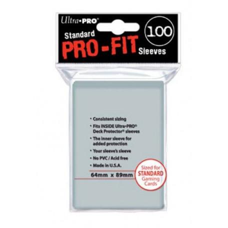 Protèges cartes  X100 - Pro-Fit Transparent - Standard Size
