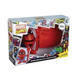 Coquetier et emporte-pièces Toast Spiderman