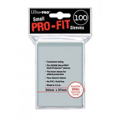 Protèges cartes  X100 - Pro-Fit Transparent - Samll Size