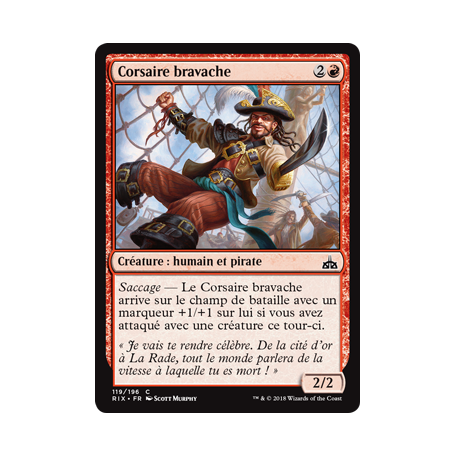 Corsaire bravache / Swaggering Corsair