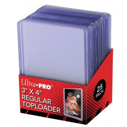 Toploader 3'' X 4'' Clear Regular X25