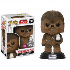 195 Chewbacca & Porg Flocked - Exclusive