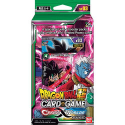 Dragon Ball Super Card Game  : Boîte 24 boosters  Cross Worlds - série 3