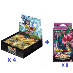 4 X Boîte 24 boosters B09 : Universal Onslaught + Offre précommande : 8 Packs SP04 offerts
