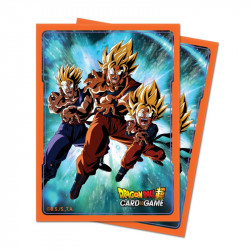 Protège-cartes Dragon Ball Super : Goku's Familly X65